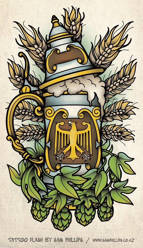 sams blog german beer stein tattoo. Black Bedroom Furniture Sets. Home Design Ideas