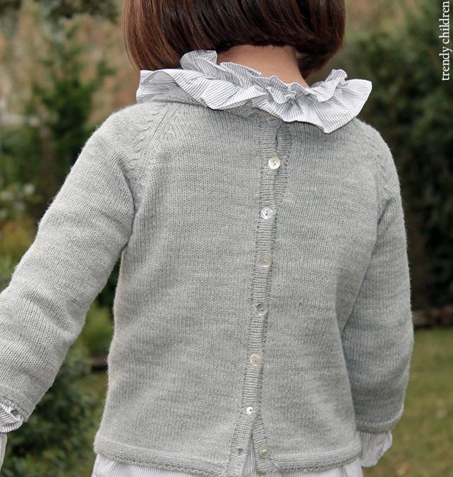 jersey gris abierto espalda botones concha valivia trendy children