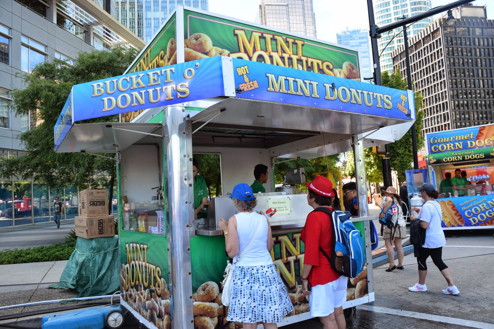 Canada day food truck roundup donuts donairs and corn dogs