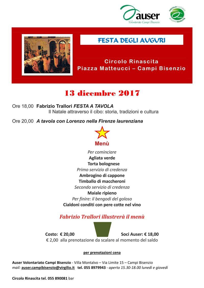 Festa degli auguri 13 Dicembre 2017 con Fabrizio Trallori