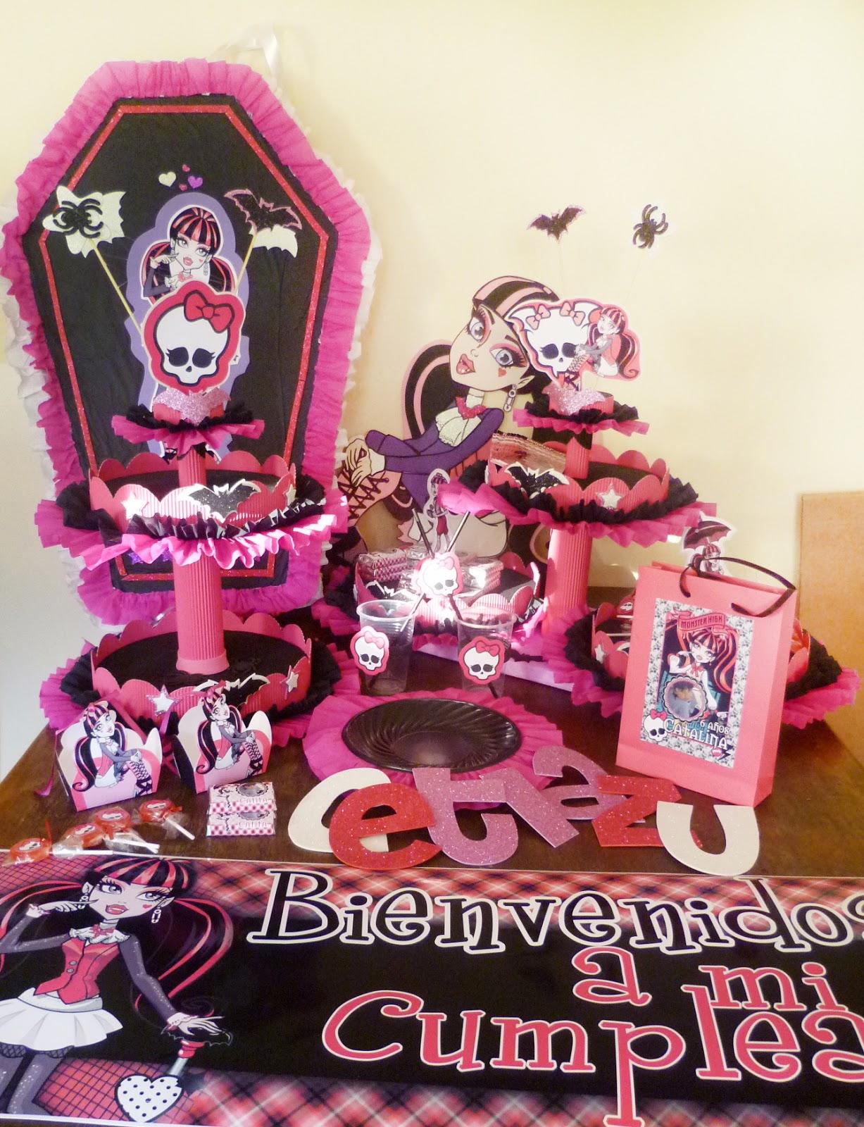 Mary´s Creaciones: Cumpleaños Monster High Draculaura