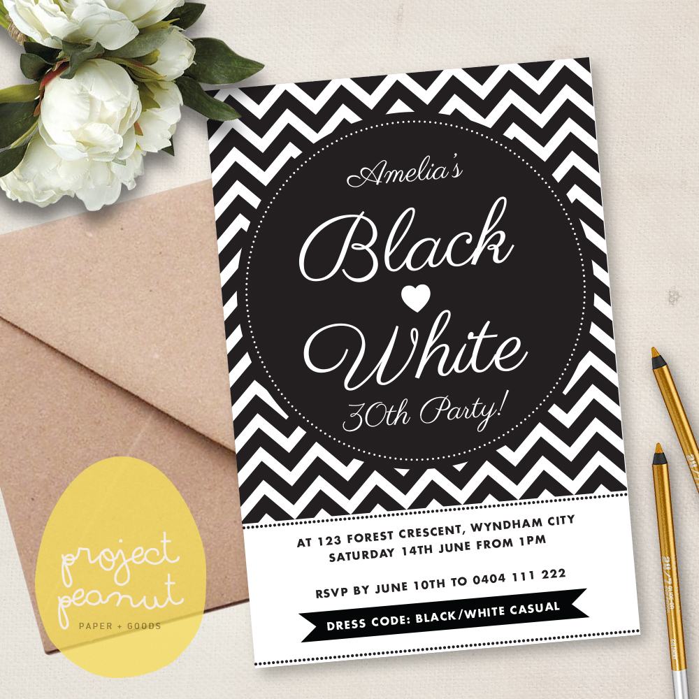 Project Peanut | Paper goods for celebrations: Printable \'Black ...