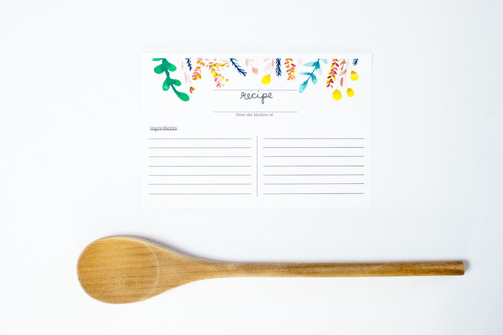 handmade recipe cards