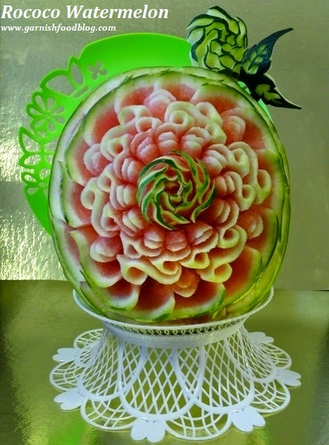 rococo style fruit display