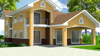 Homes in ghana how strong is your house foundation for Ghana house designs