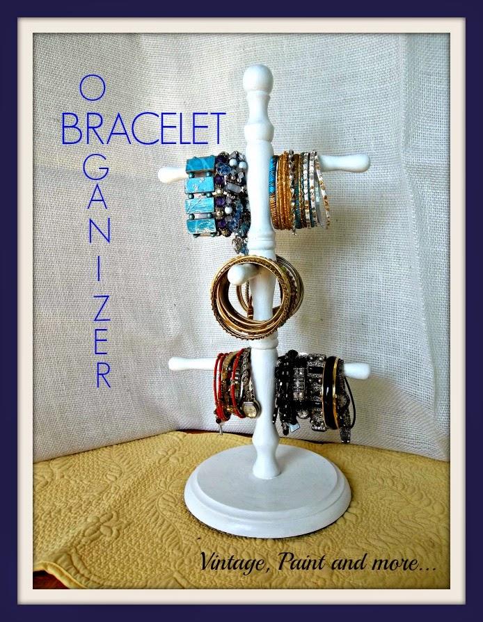 Day 2 diy bracelet organizers 31 cheap easy diy for Bangle organizer diy