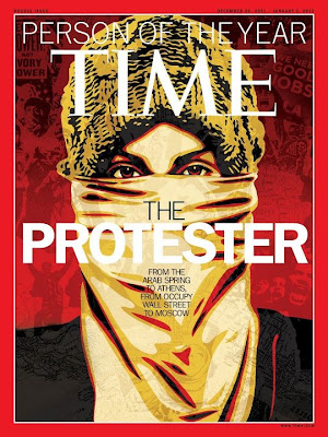 Time magazine cover protester