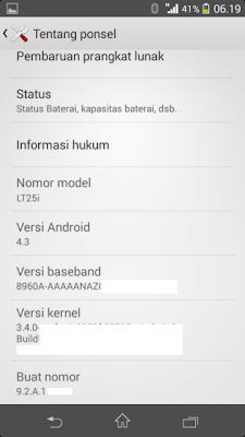 Xperia V gets leaked Android 4.3 update