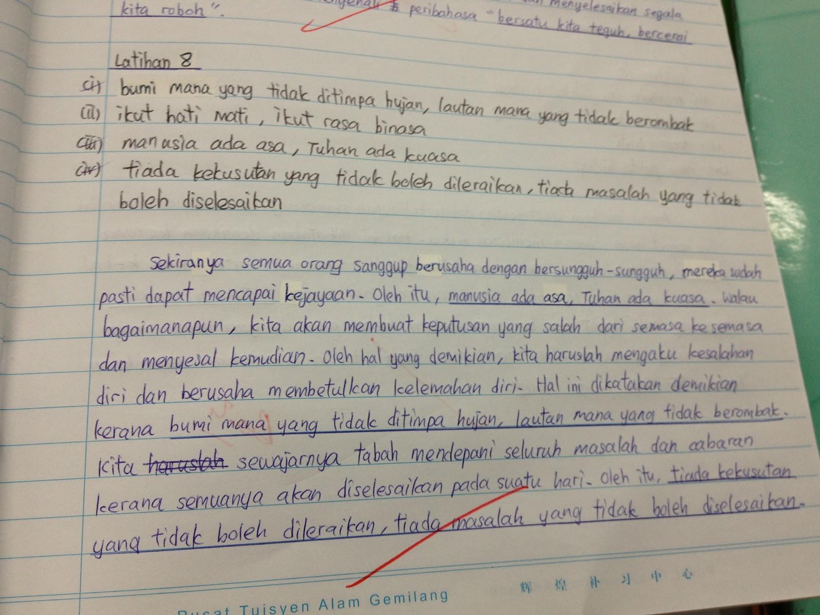 Laman Blog Cikgu Tan Cl Format Baharu Spm Bina Karangan Berdasarkan Peribahasa Yang Diberikan