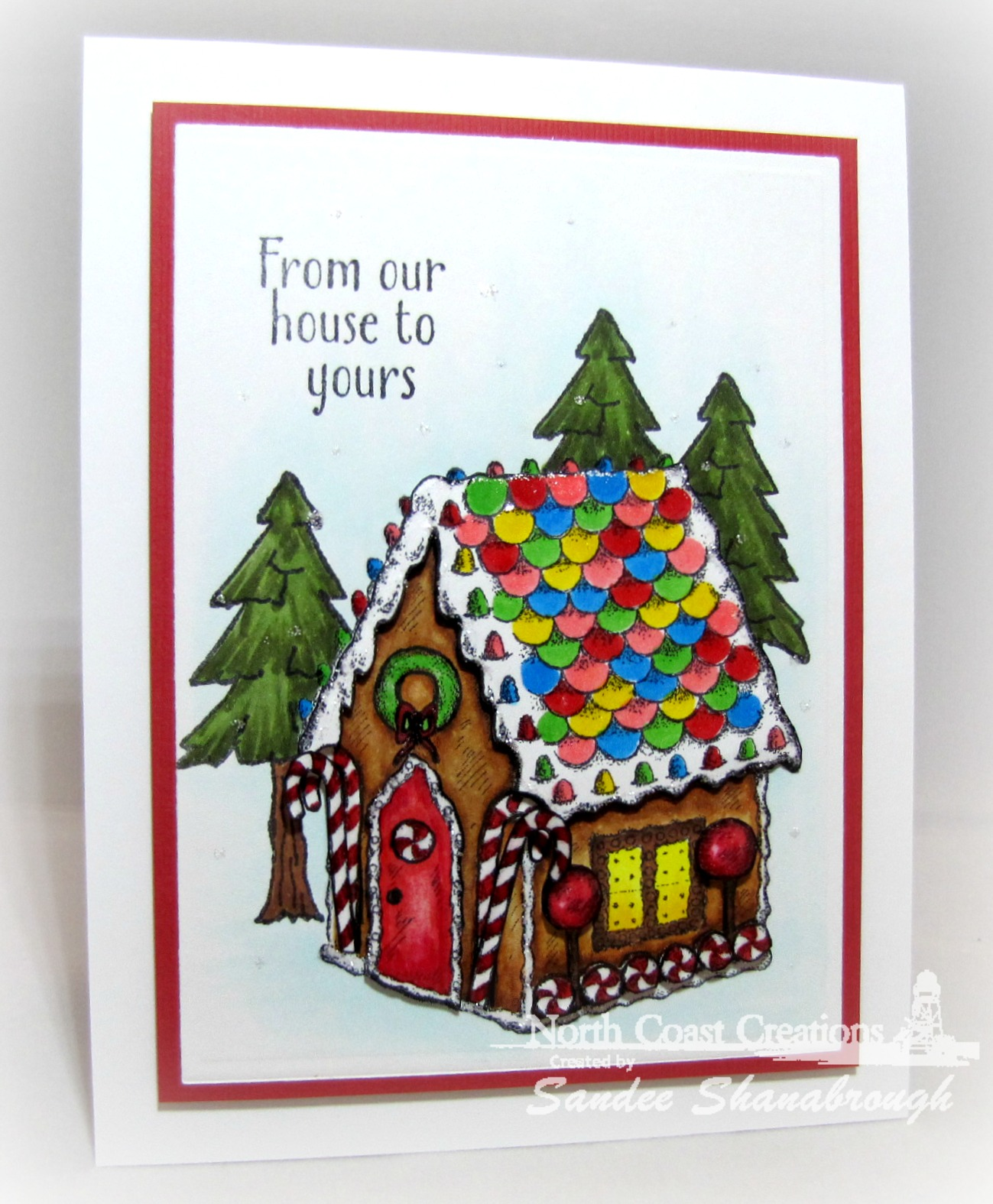 Stamps - North Coast Creations Sweet Christmas Wishes, Happy Camper