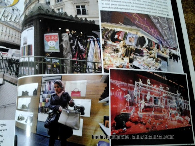 Hanis suka shopping in Paris dalam hijabista magazine from Premium Beautiful Top Agents