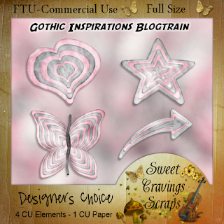 Free scrapbook elements from Sweet Cravings- Commercial Use
