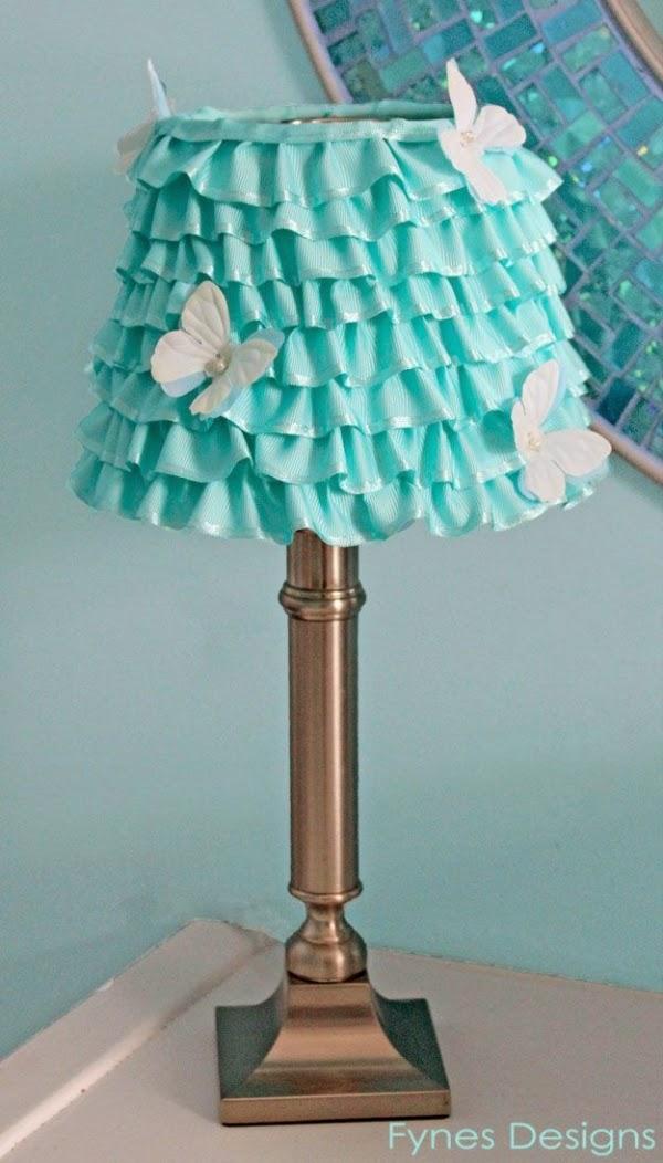 تزيين المصباح بالقماش