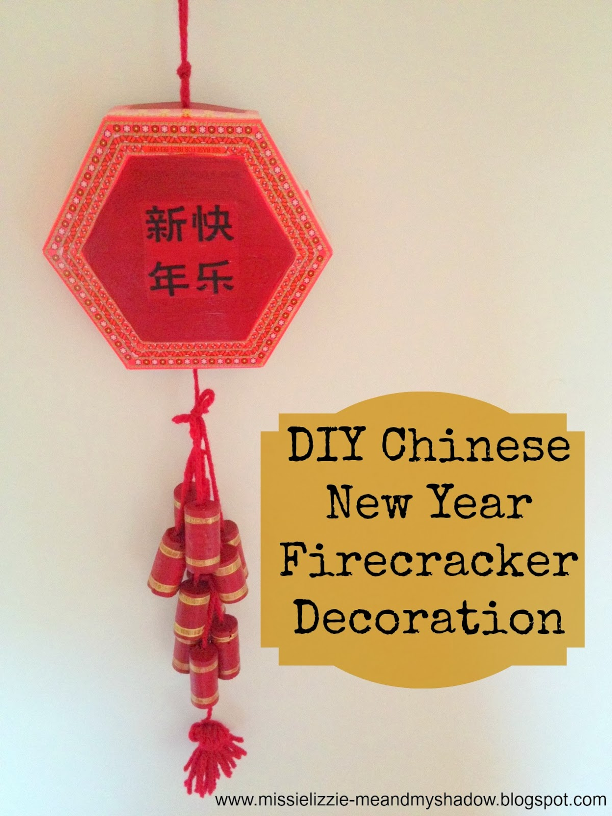 Homemade Chinese Firecracker decoration