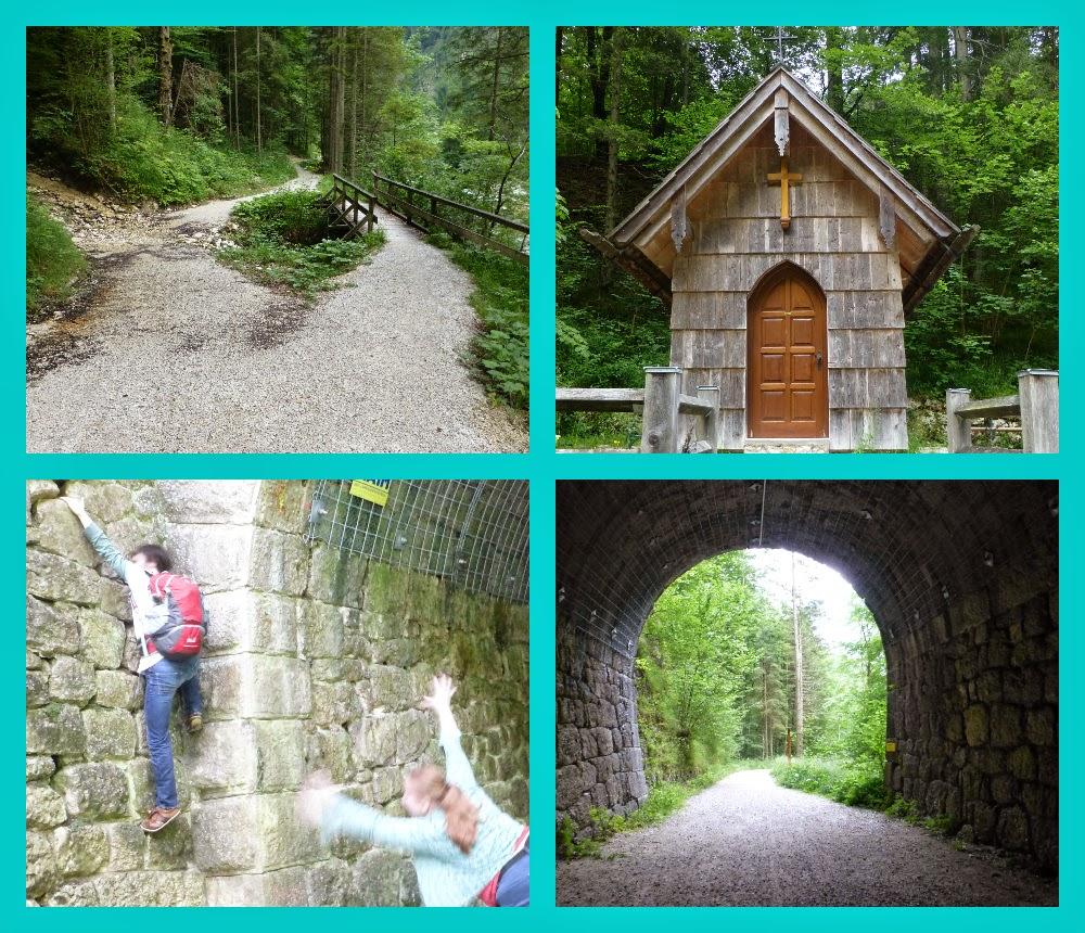 weg, kapelle, alter eisenbahntunnel