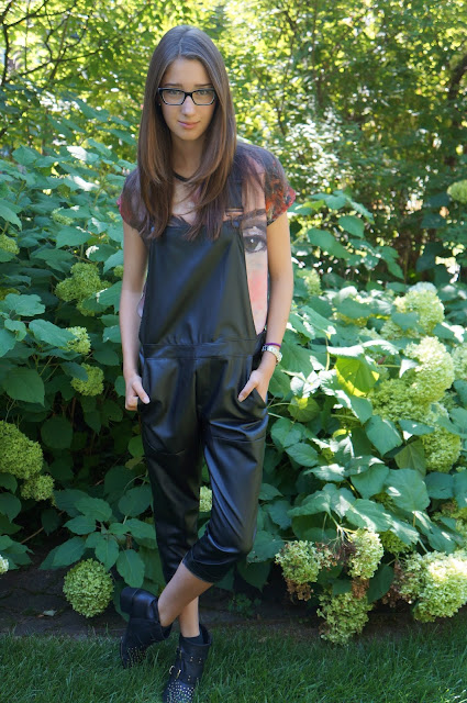 Mendicino leather overall jumper