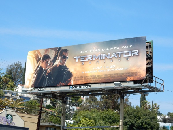 Terminator Genisys film billboard