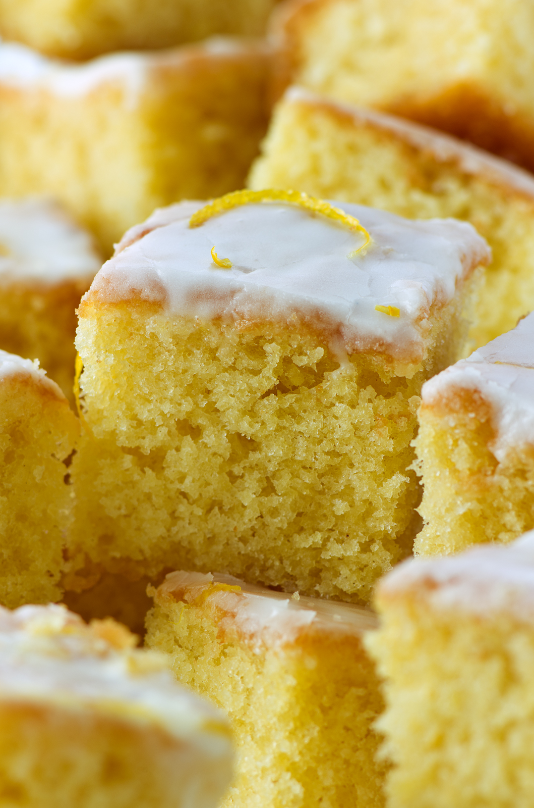 Dairgold lemon drizzle cake food photography with McCann erickson