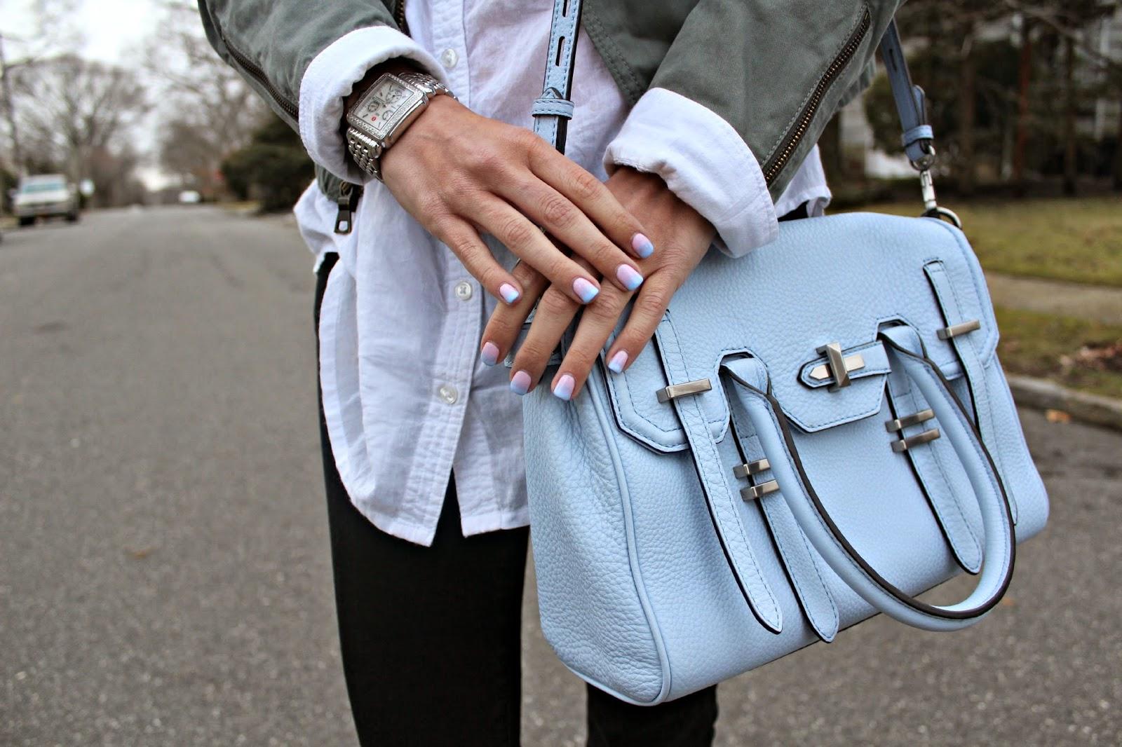 rebecca minkoff baby blue bag
