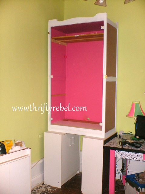 Wonderful Computer Armoire Before