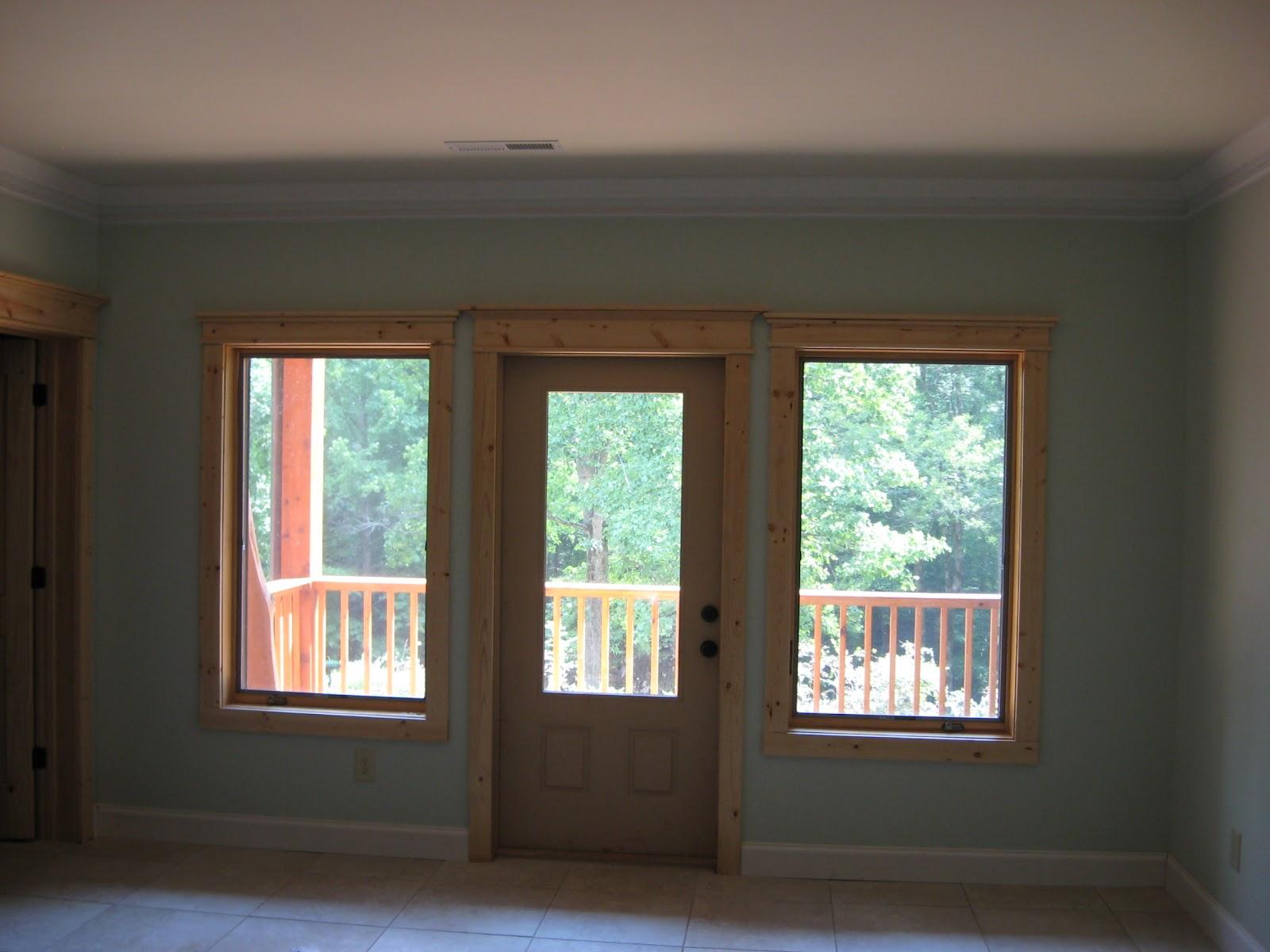 Dufour woodworks door window trim and crown molding for The door and the window