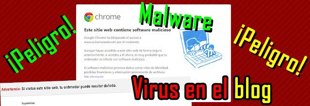 malware en el blog, identificarlo y eliminarlo, no se deben instalar gasgets de terceros, codigos extraños ni recomendar sitios no confiables