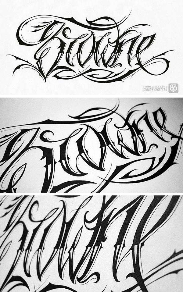 Script Tattoo Design Idea Photos Pictures Images Women