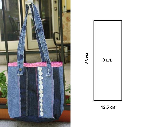 Как пошить сумку своими руками из джинс 406