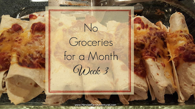 No Groceries for a Month