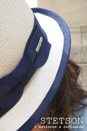 Chapeau paille blanc Stetson femme Murray