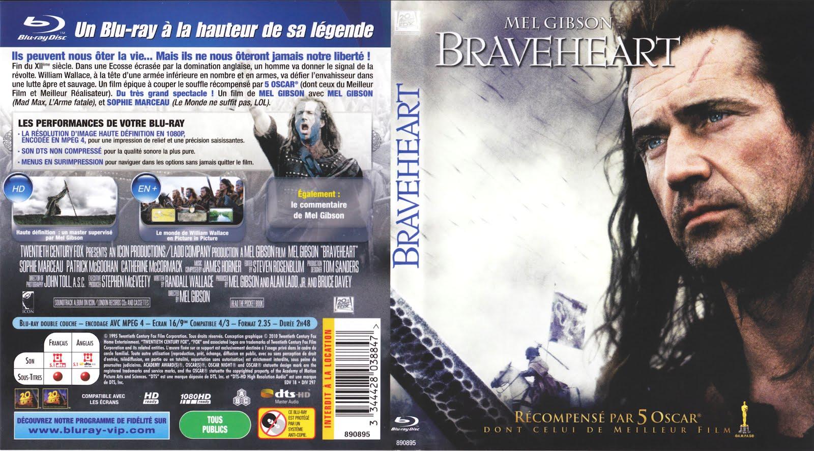 Braveheart Blu-ray Dvd disk Cover