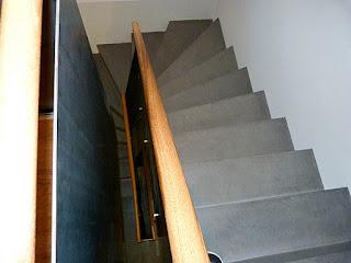 Treppe mit Beton Cire beschichten, Betonlook, Betontreppe, Beton Design, Sichtbetontreppe