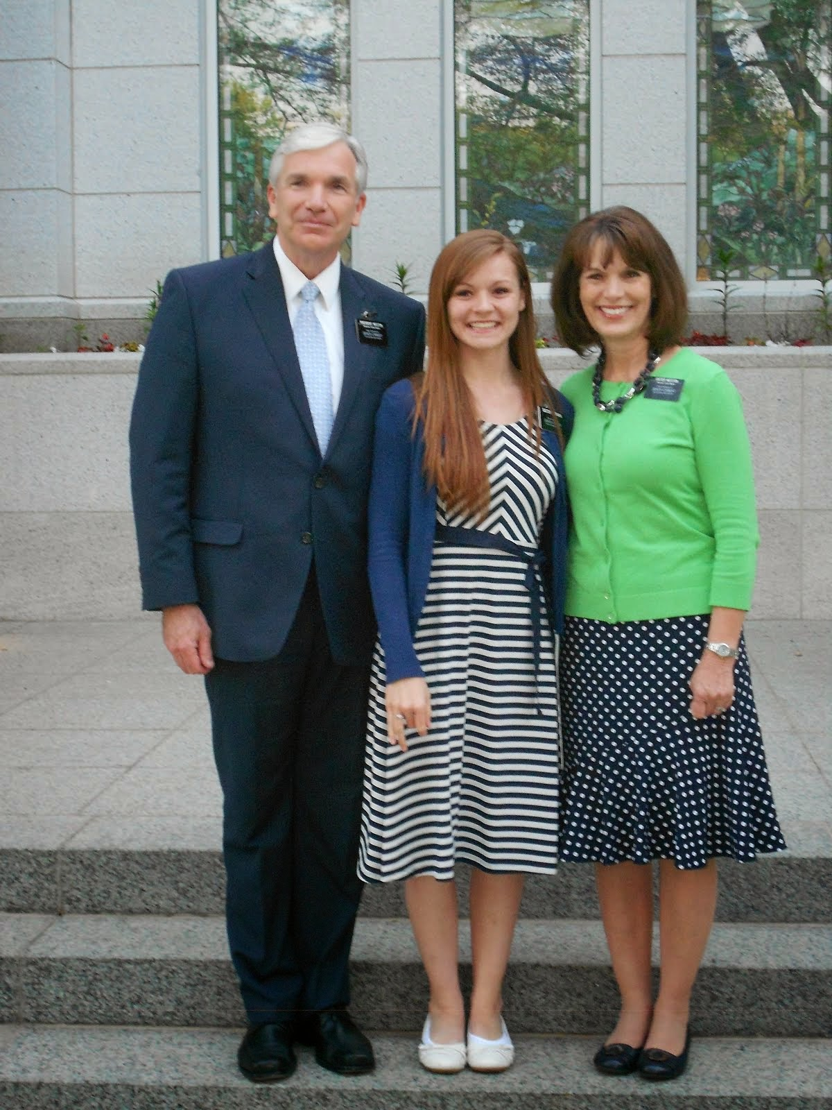 Sister Ferrara with President & Sister Weston