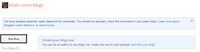 Halaman pertama dashboard blogger