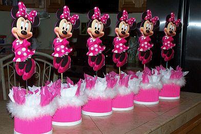 MuyAmeno.com: Fiestas Infantiles, Decoración Minnie Mouse, Centros ...