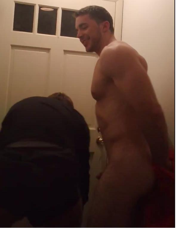 Answering door naked