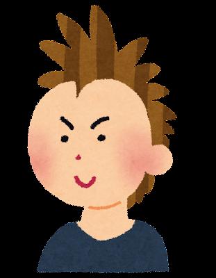 モヒカンヘアーのイラスト(髪型)