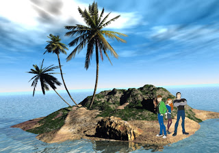 Ben Ten 10 Friends Gwen Kevin free wallpapers in 3D Island background