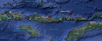 ALERTA ROJO EN INDONESIA POR FUERTE EXPLOSION DEL VOLCAN PALUWEH (ROKATENDA) 04 de Enero 2013
