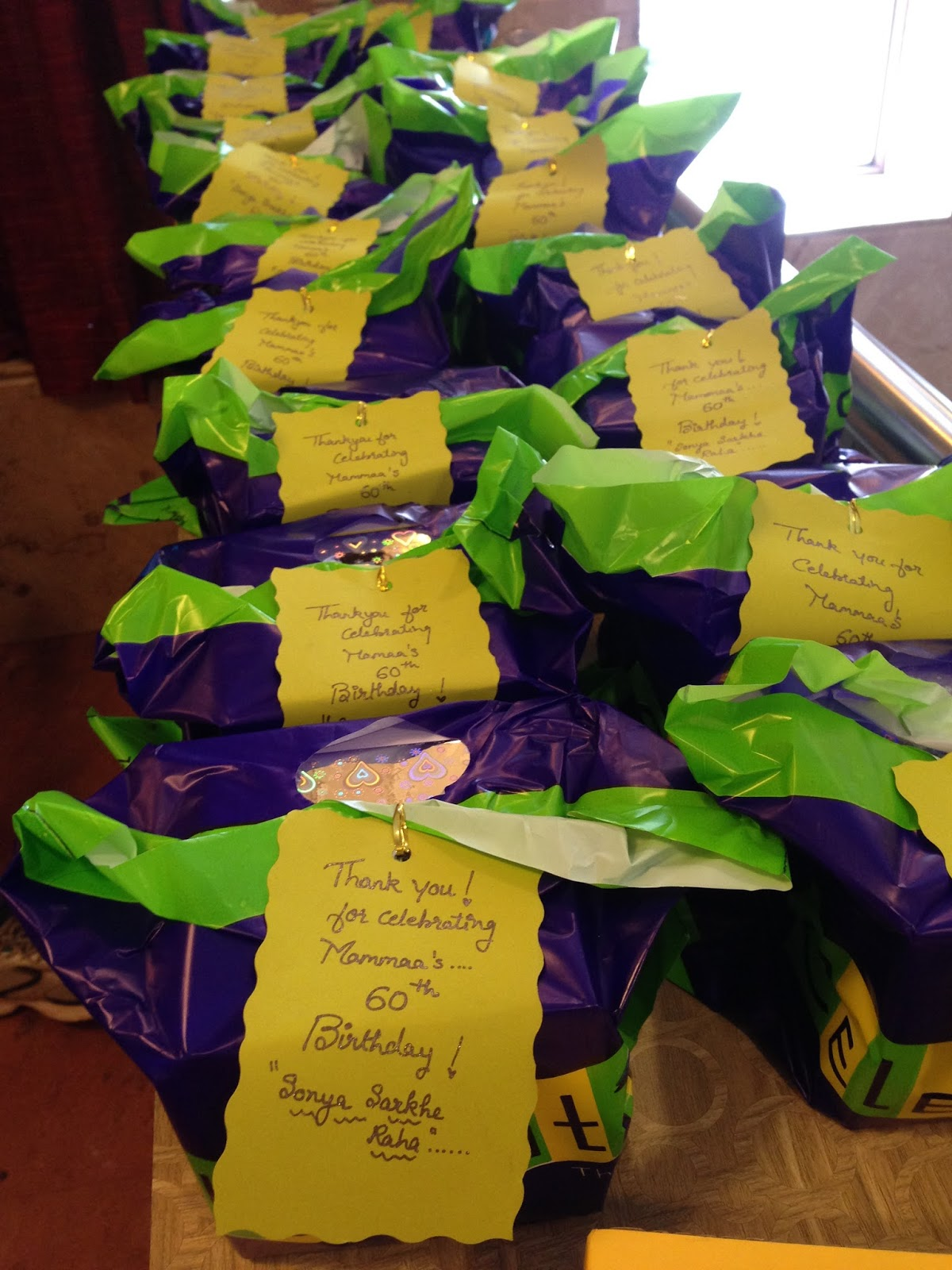 Return Gifts It Essential To Be Thankful The Guest Who Graced Celebration We Packed Up A Nice Glass Candle Stand Toblorone Chocolate Bars As