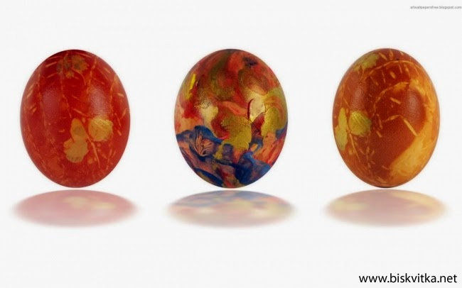 Acrylic painted eggs