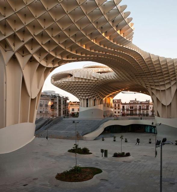 Metropol Parasol Wooden Structure