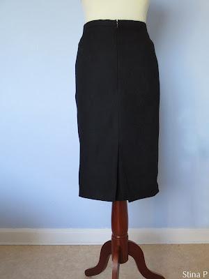 Kjol StinaP ull svart jaquardvävd Diorveck