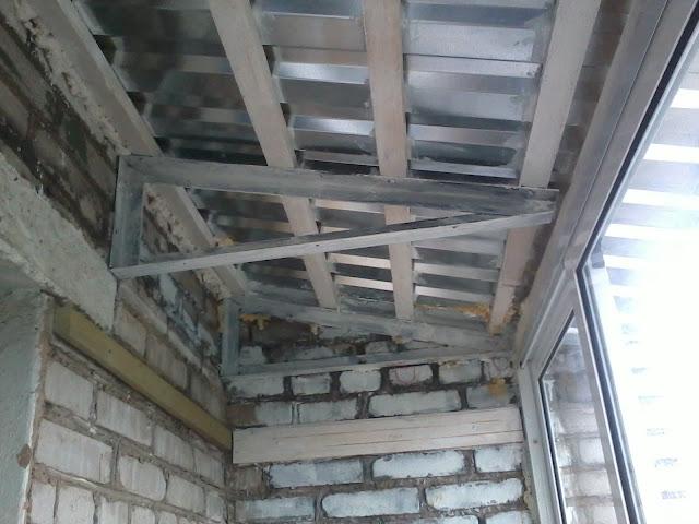 Фермы для крыши на балконе