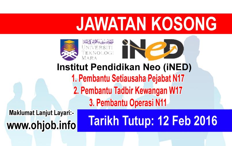 Jawatan Kerja Kosong Institut Pendidikan Neo (iNED) logo www.ohjob.info februari 2016