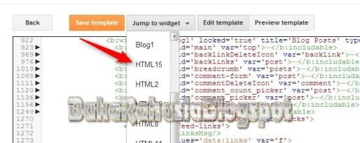 Fitur Jump To Widget, mudah mencari widget.