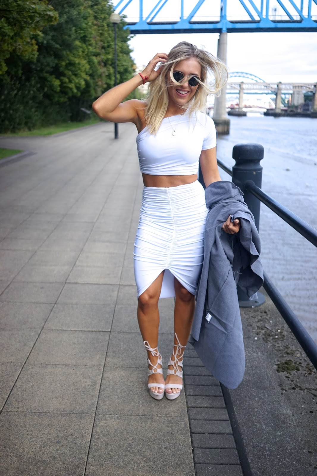 white two-piece