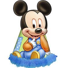 Mickey con gorro de cumpleaños
