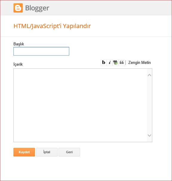bloggera rastgele yazılar eklentisi ekleme