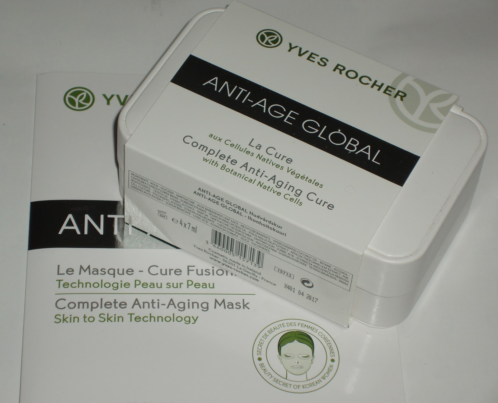 sparkled beauty yves rocher anti age cure mask. Black Bedroom Furniture Sets. Home Design Ideas